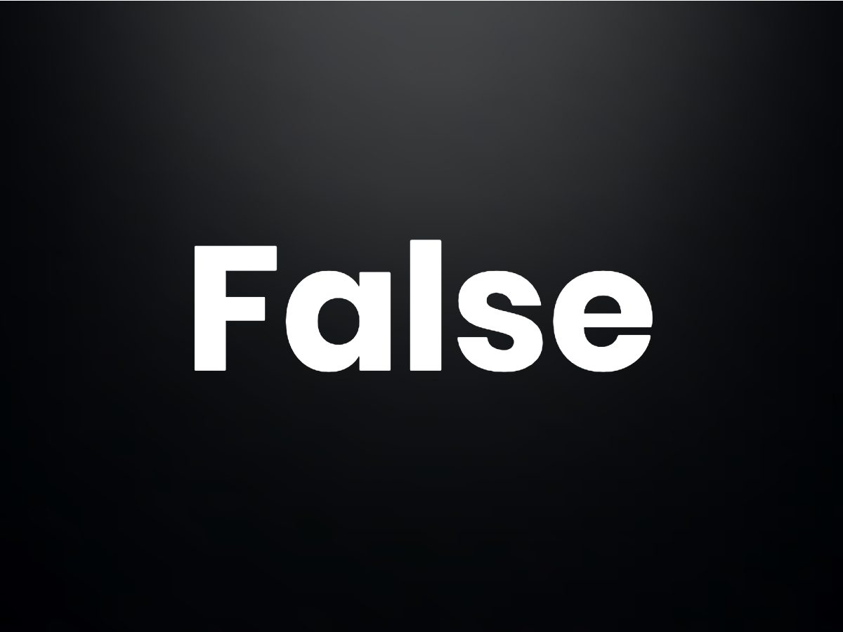 Trivia questions - False