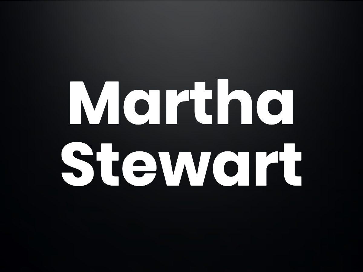 Trivia questions - Martha Stewart