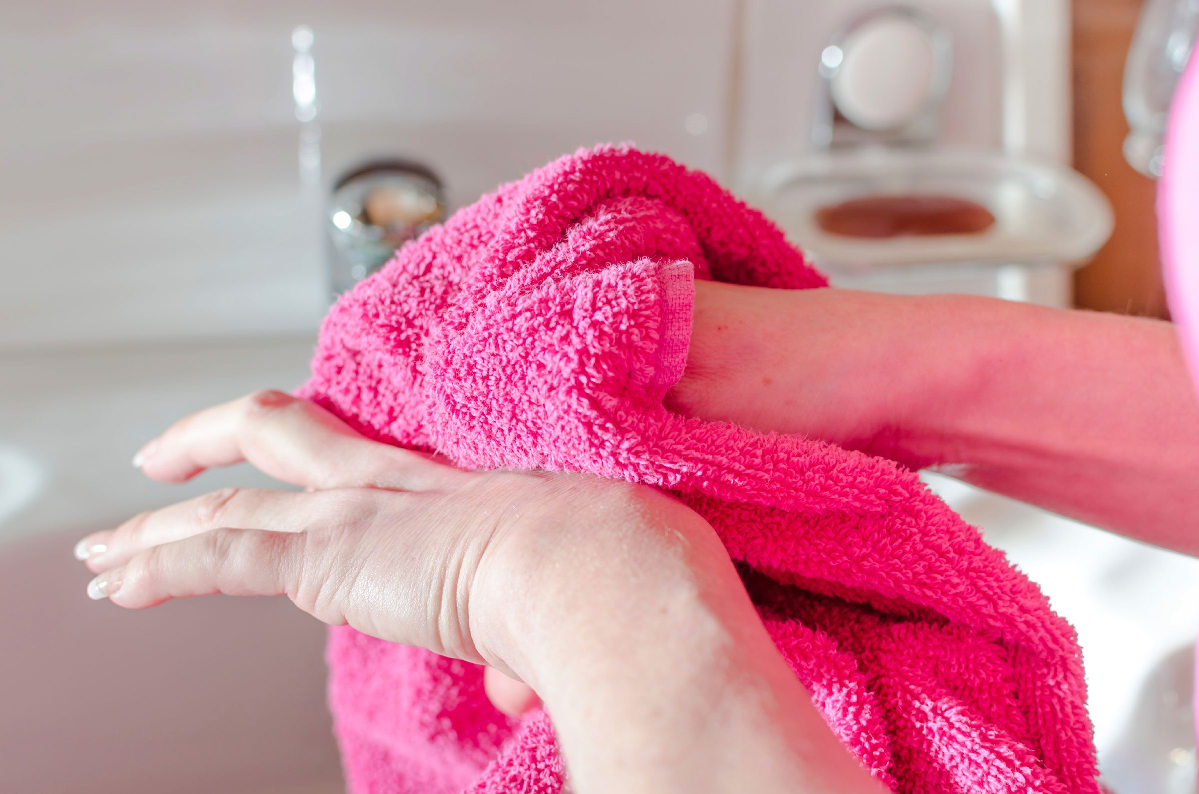 hand washing mistakes drying