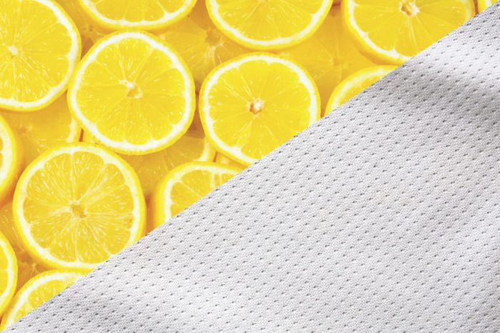 things to clean with lemons white fabric