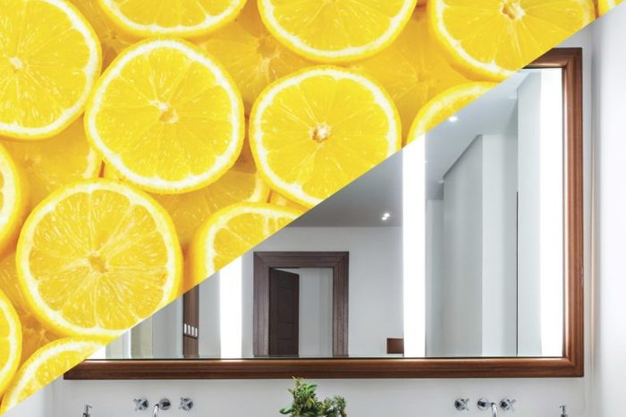 things clean with lemon mirror
