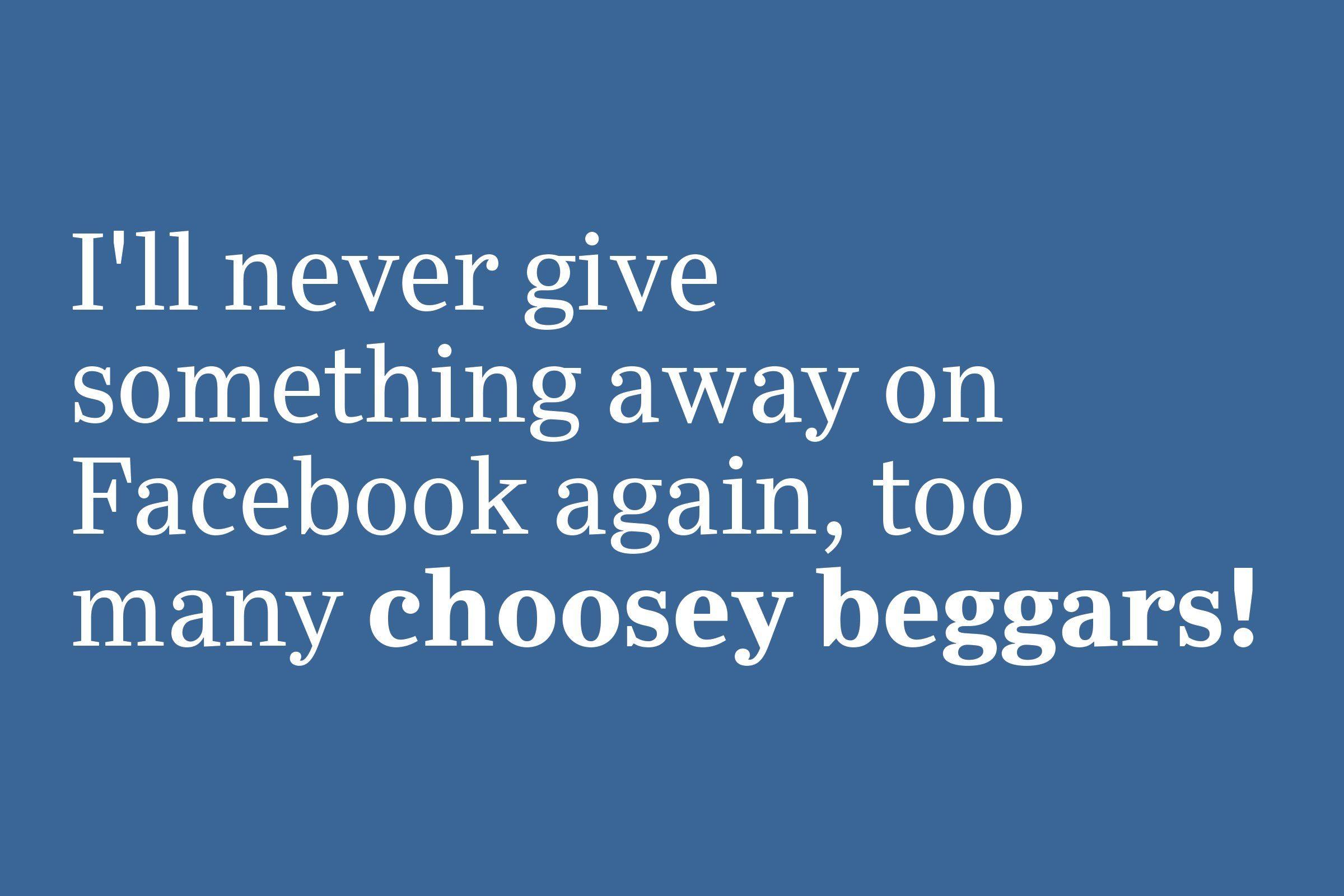 choosey beggars slang 2020