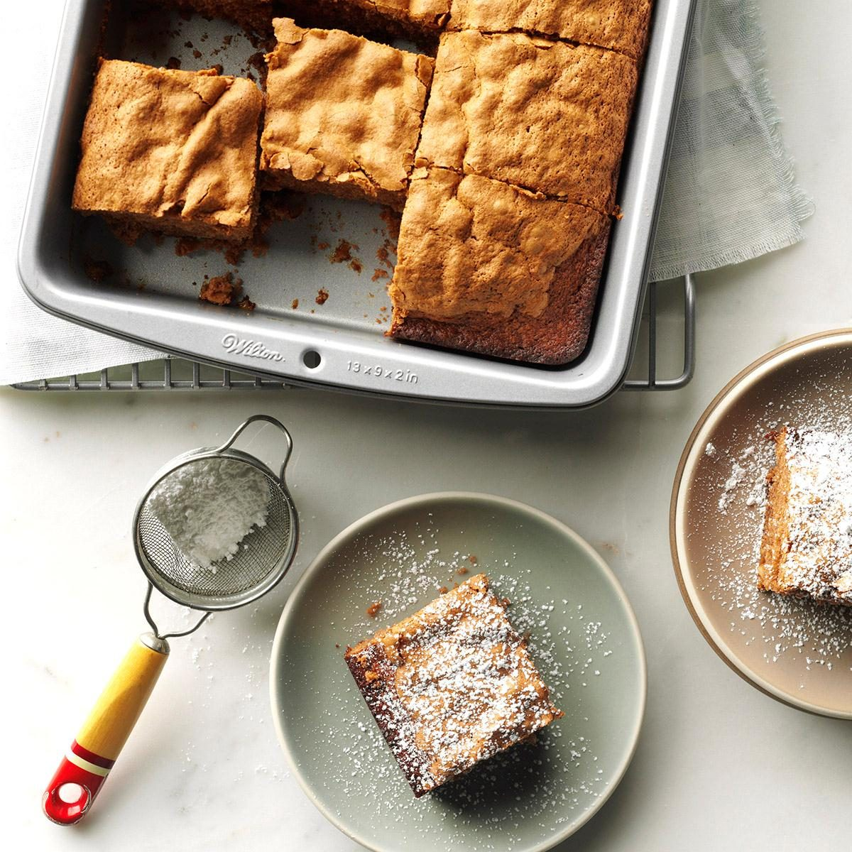 Hazelnut cake squares recipe