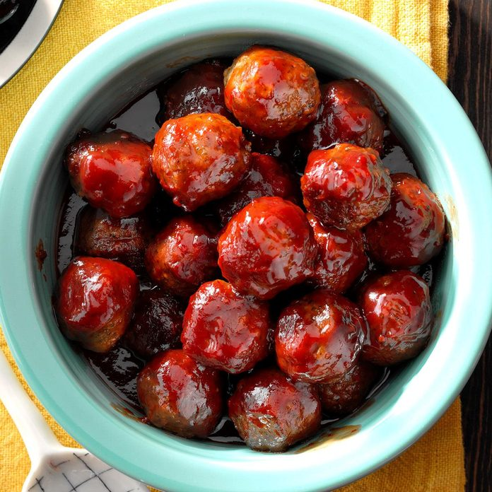 Chilled and jelly meatballs