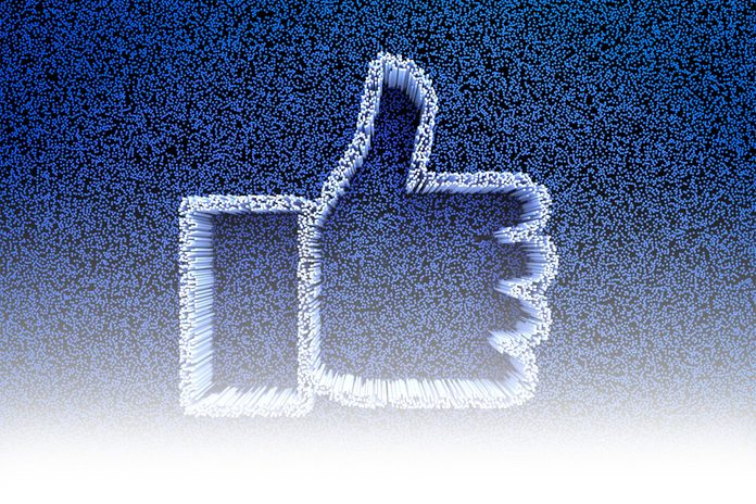 digital facebook thumbs up like concept