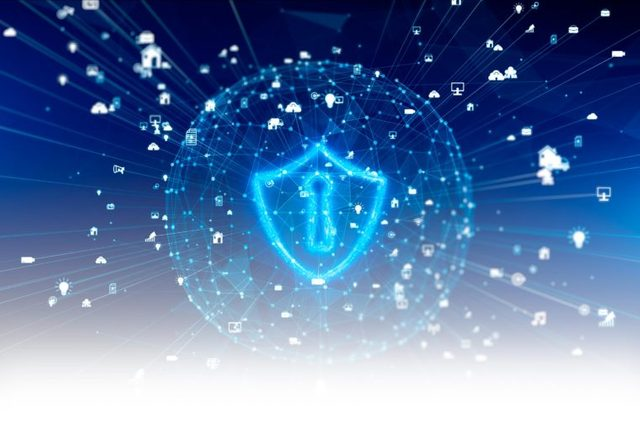 Secure Digital Data Network. Cloud Computing Cyber Security Concept. vpn concept
