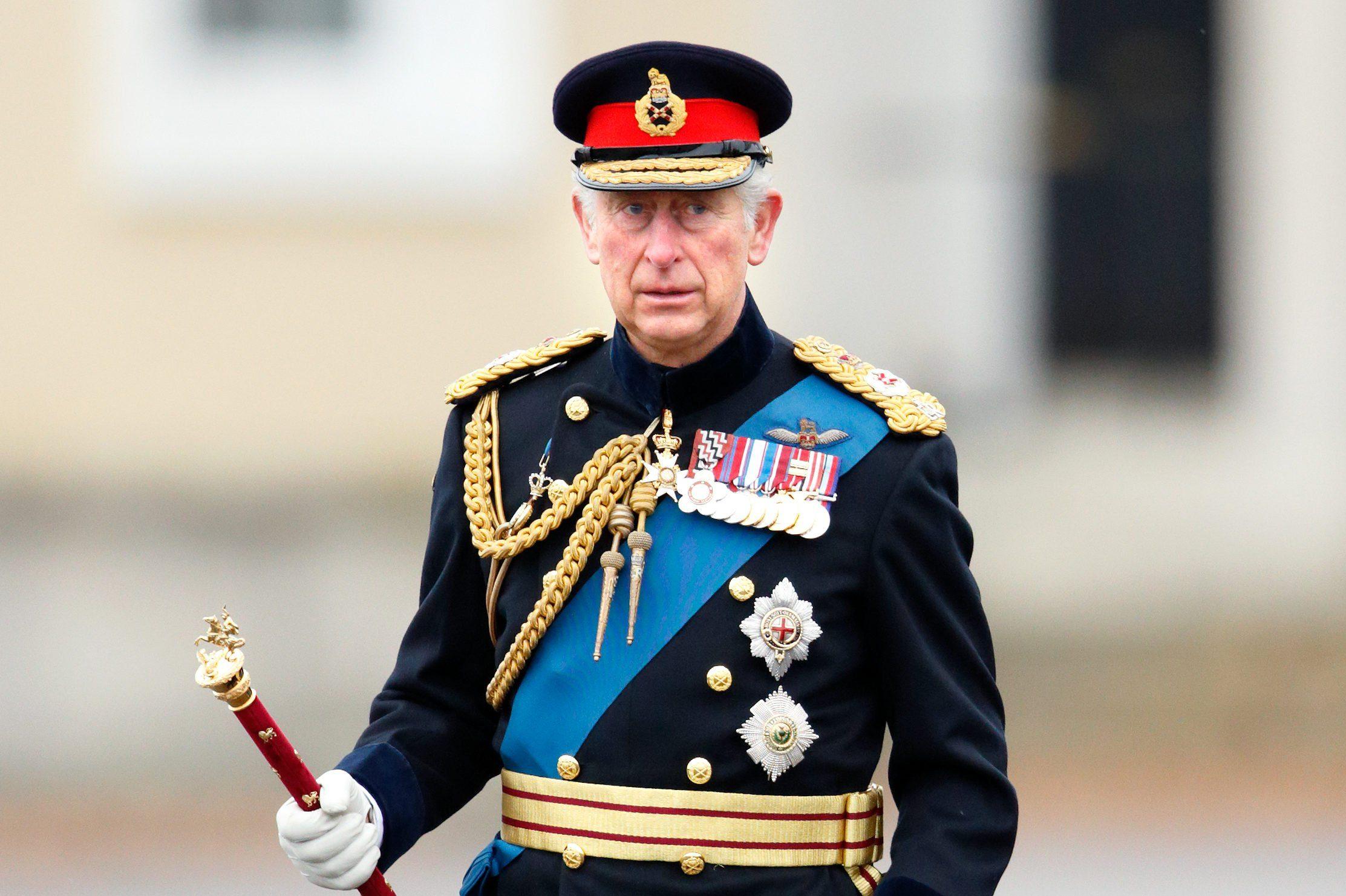 Prince Charles in royal regalia