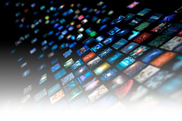 abstract digital media apps concept