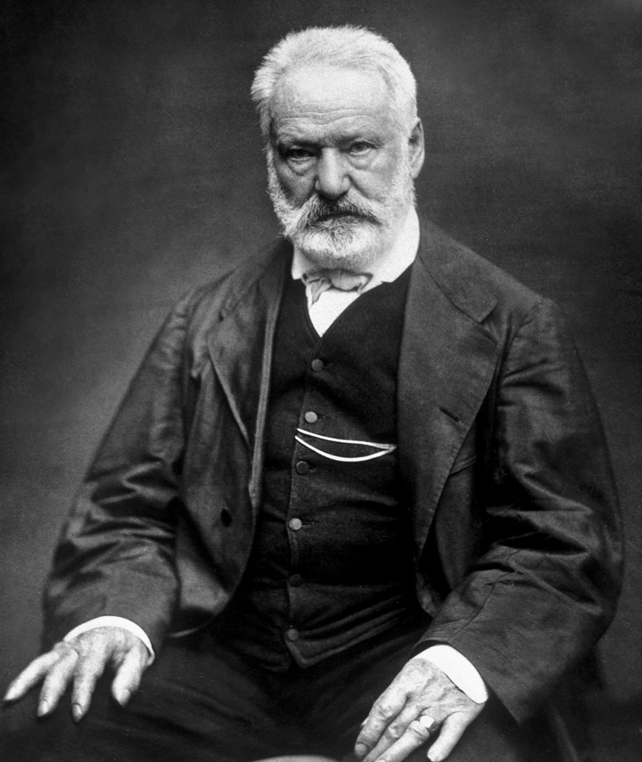 Victor Hugo (1802-1885) french poet and novelist here in 1876, photo by Etienne Carjat