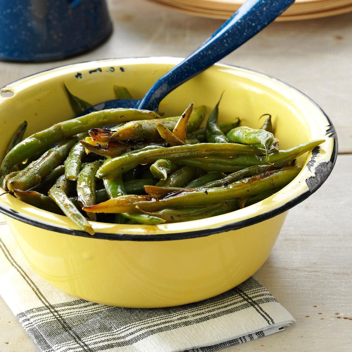Grilled Cajun green beans