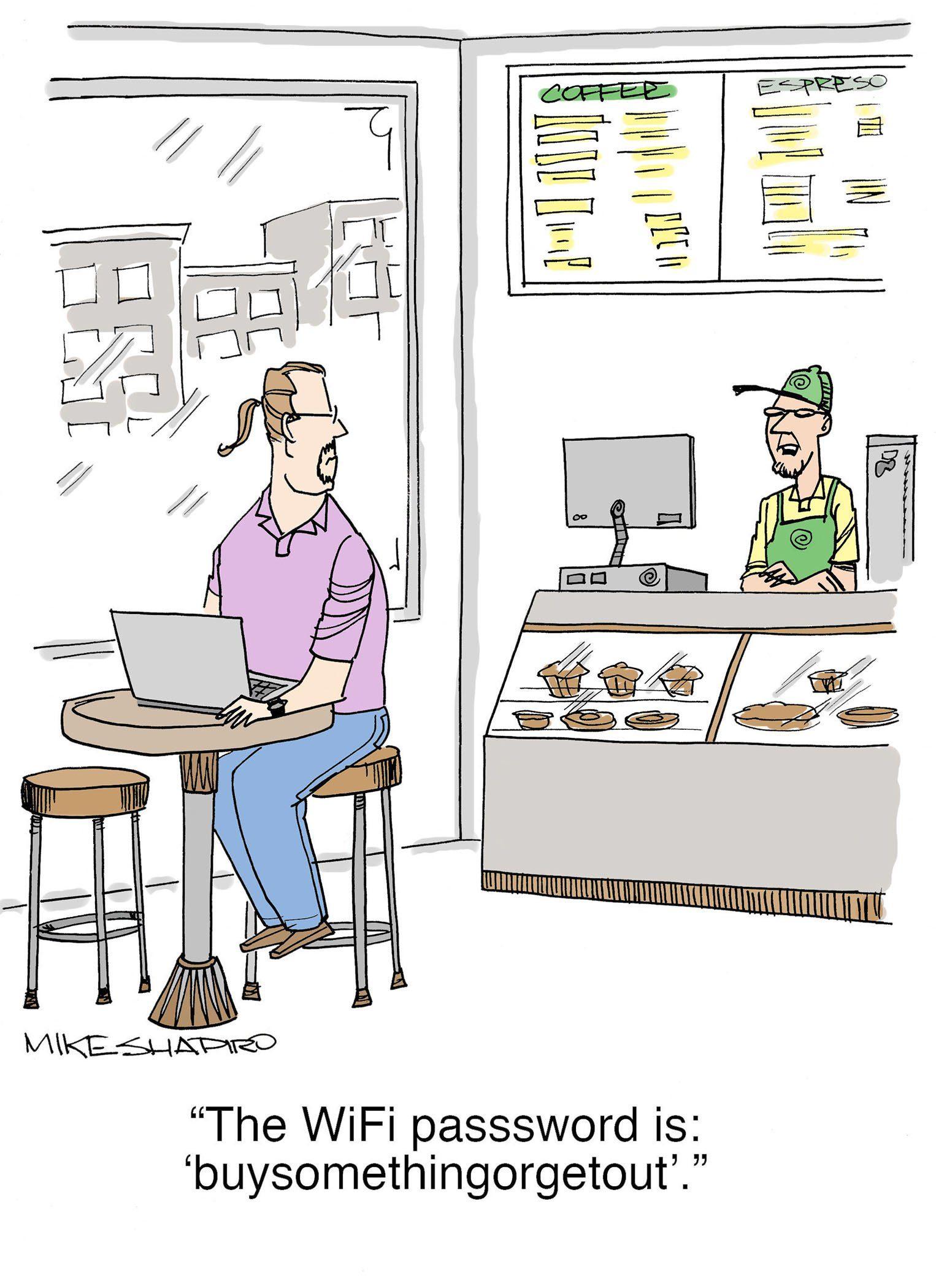 cartoon work from home