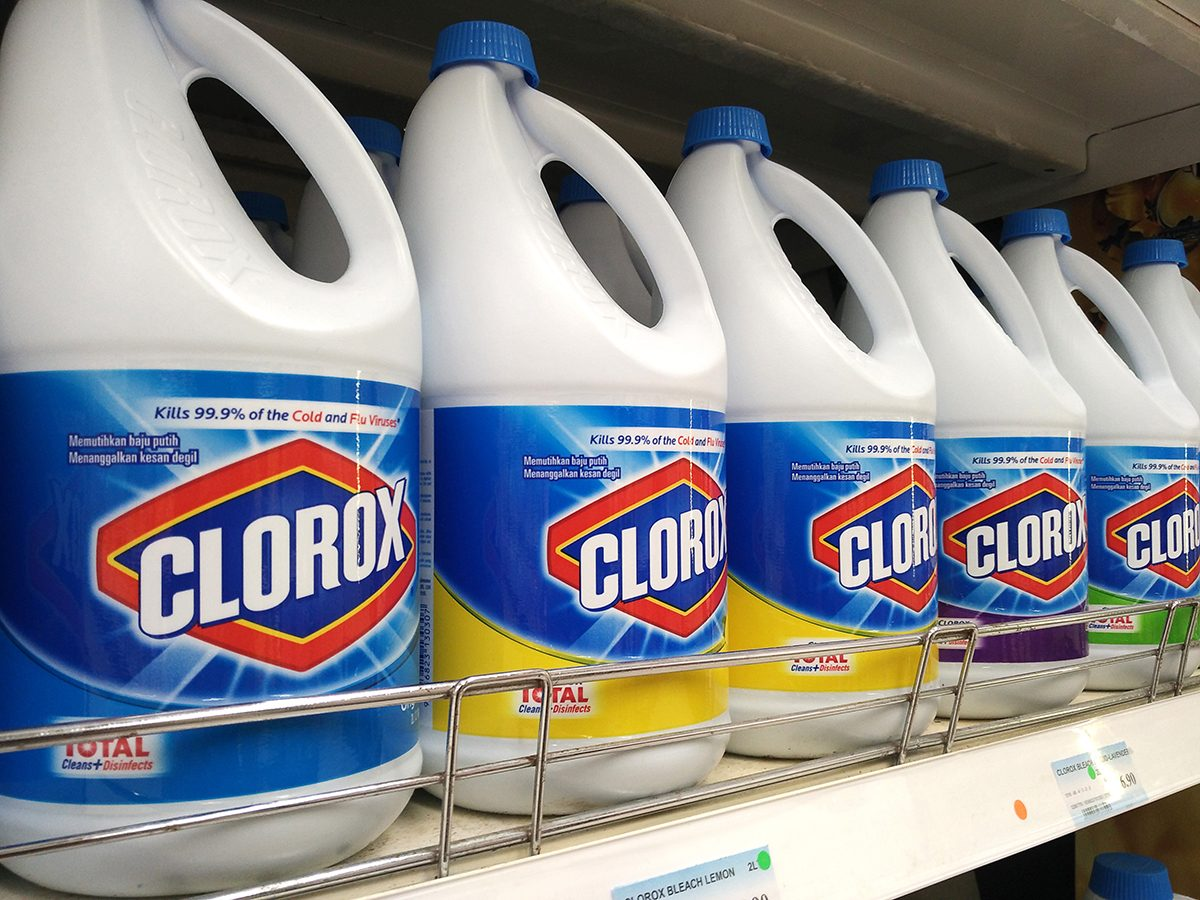 Bleach can kill coronavirus - bleach bottles