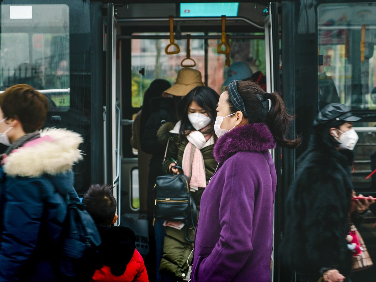 People wearing masks to protect from the coronavirus