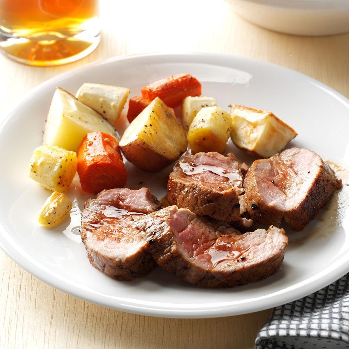 Balsamic glazed pork tenderloin recipe