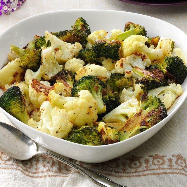 Roasted broccoli and cauliflower recipe