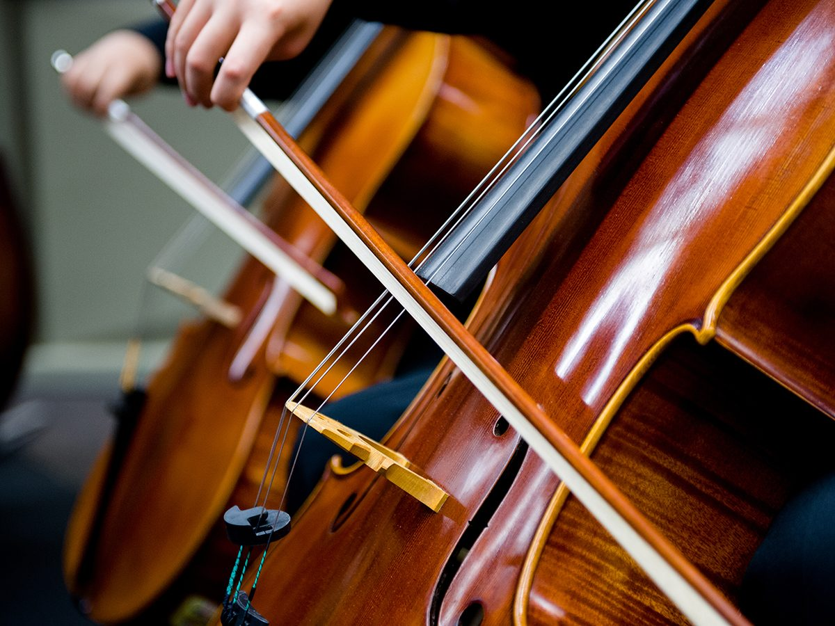 Good news - cello orchestra for the deaf