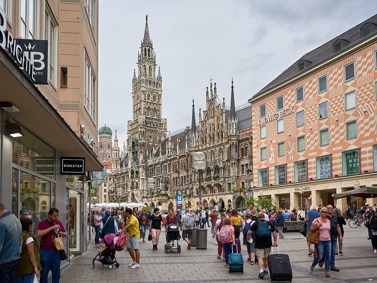 Good news - Marienplatz in Munich, Germany