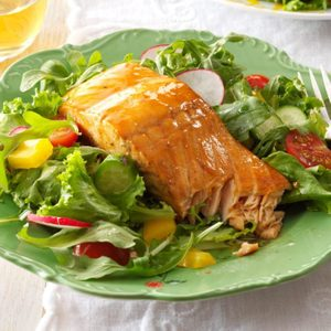 Grilled Teriyaki Salmon