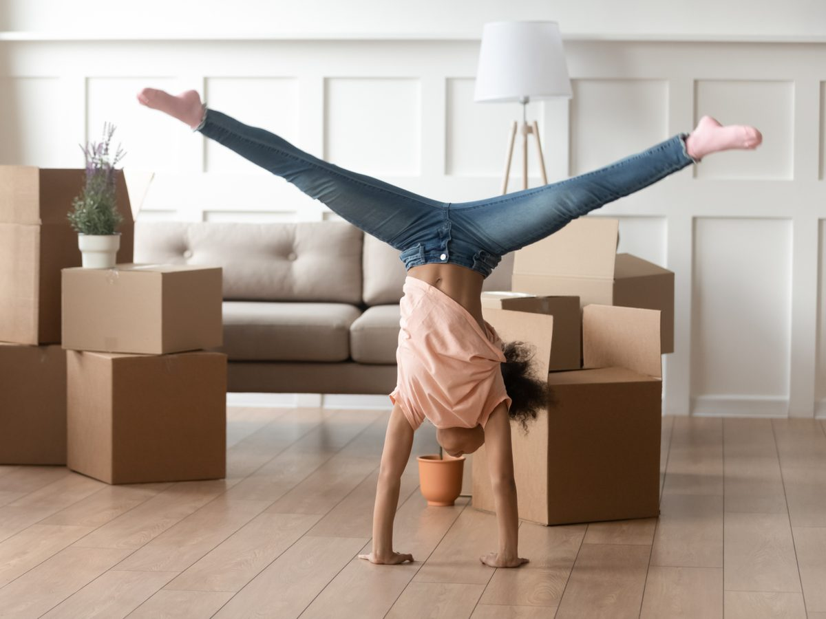 Woman doing a cartwheel