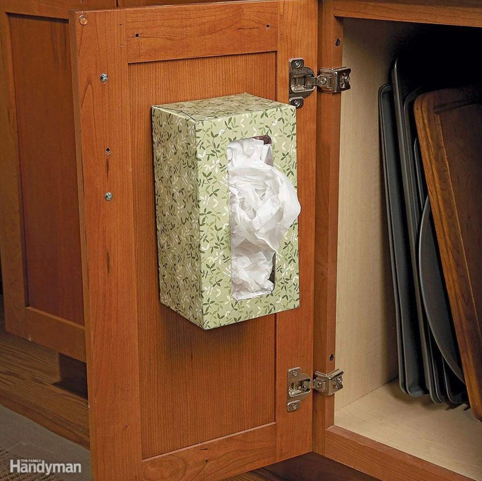 Kitchen Organizing Ideas - plastic Bag Holder
