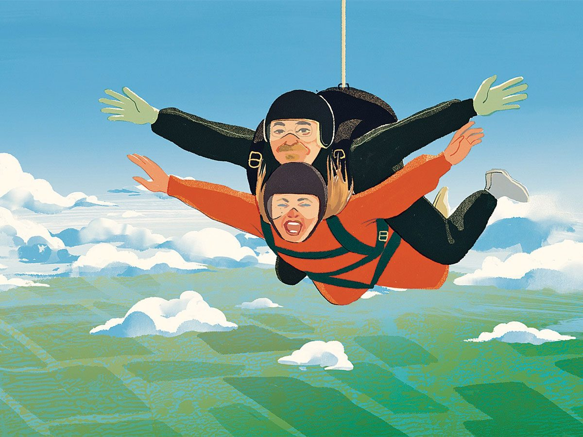 Skydiving over the Yukon Desert