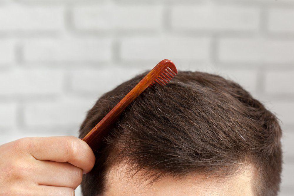 Man makes a haircut
