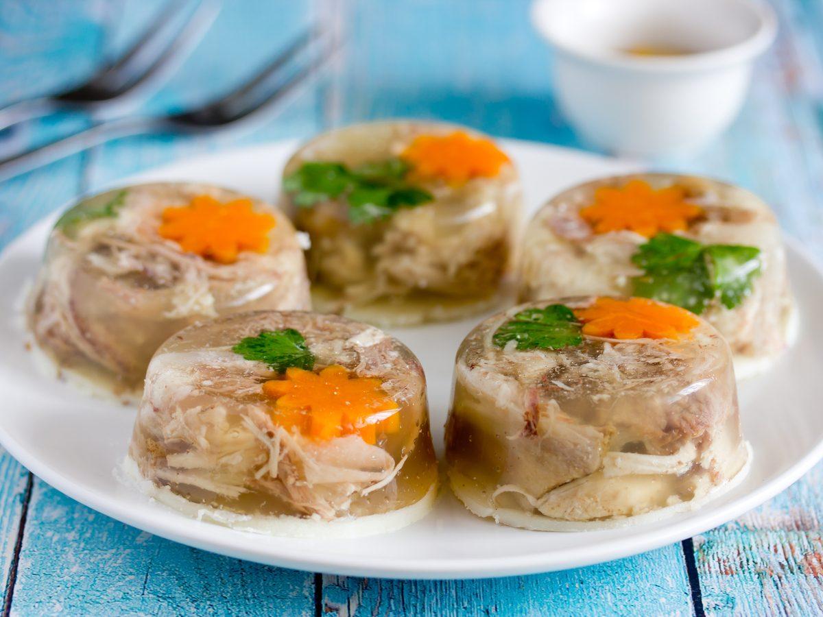 Aspic meat jellies