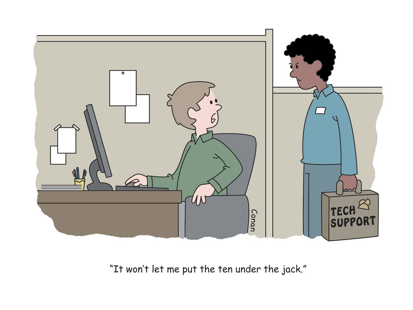 Work cartoons: Technical difficulties