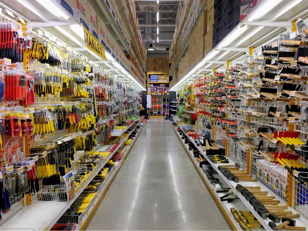 Interior of hardware store