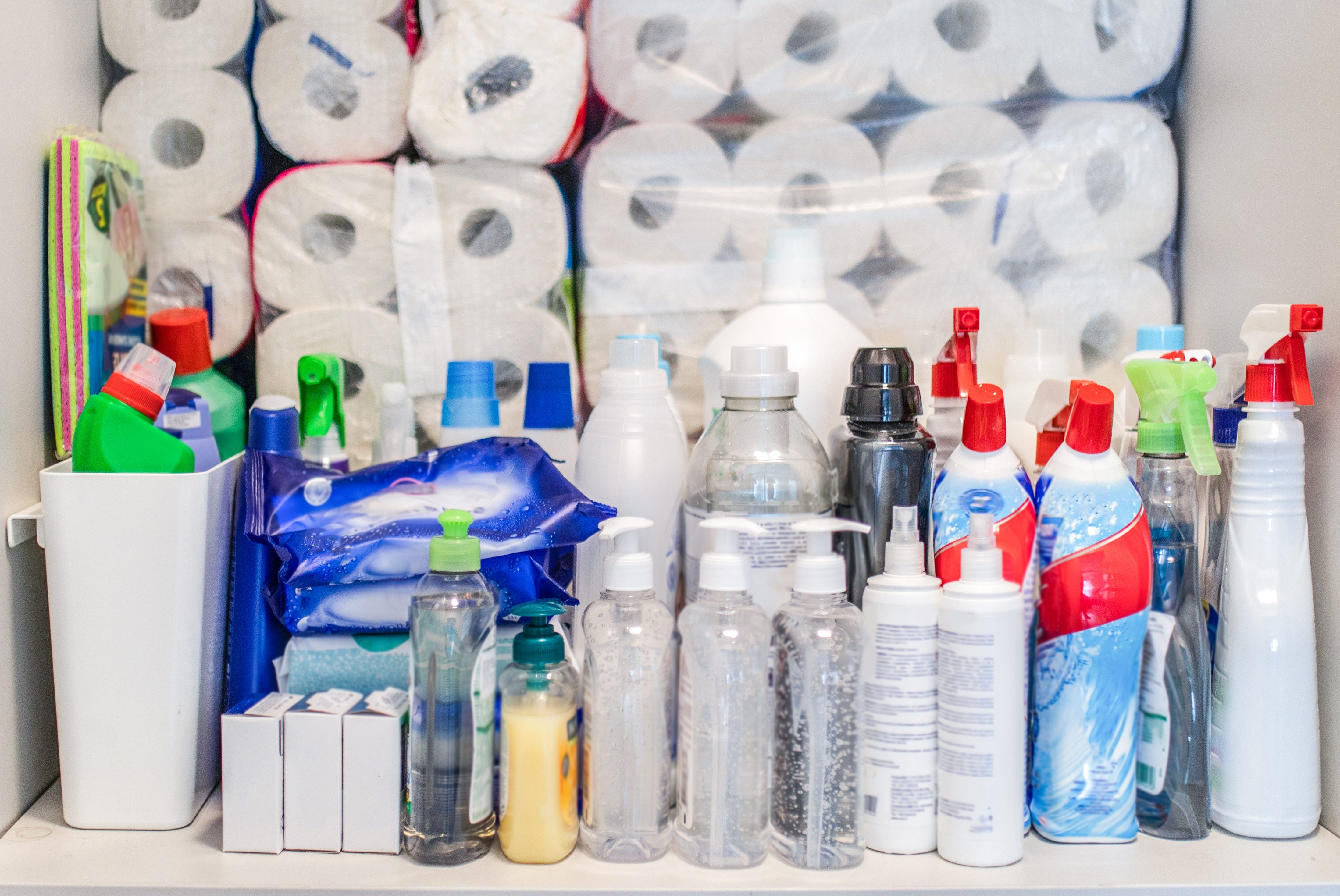 Hoarding food, toilet paper and cleaning products
