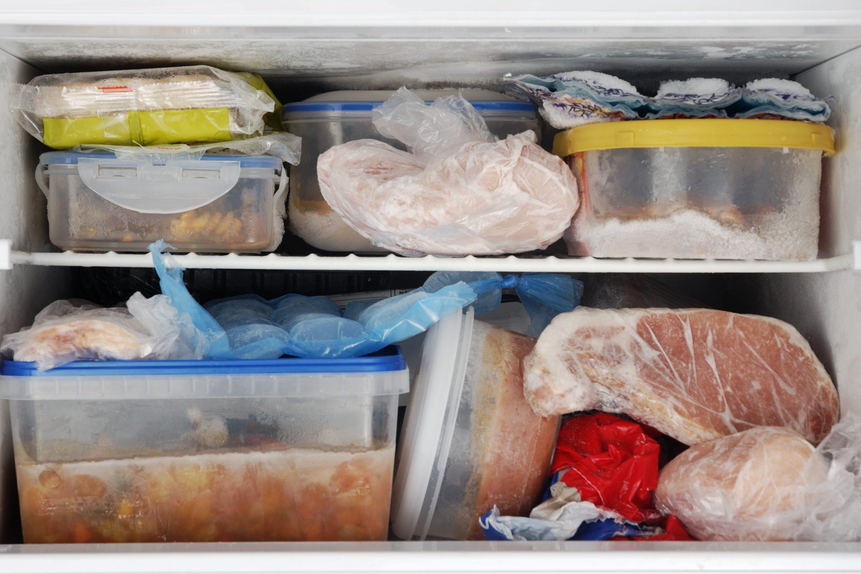 Overstocked freezer