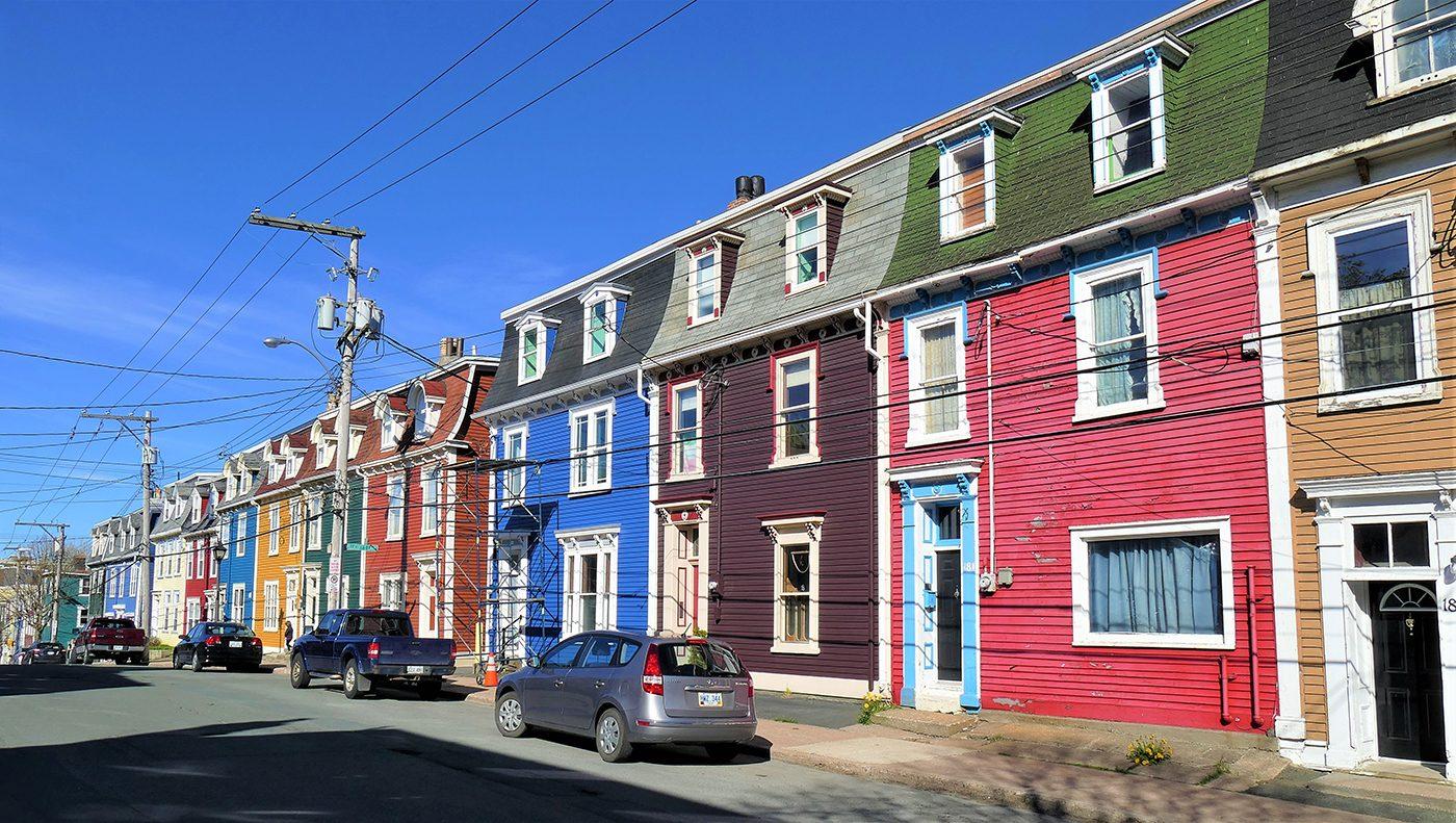 Canadian history - Jellybean Row, St. John's, Newfoundland