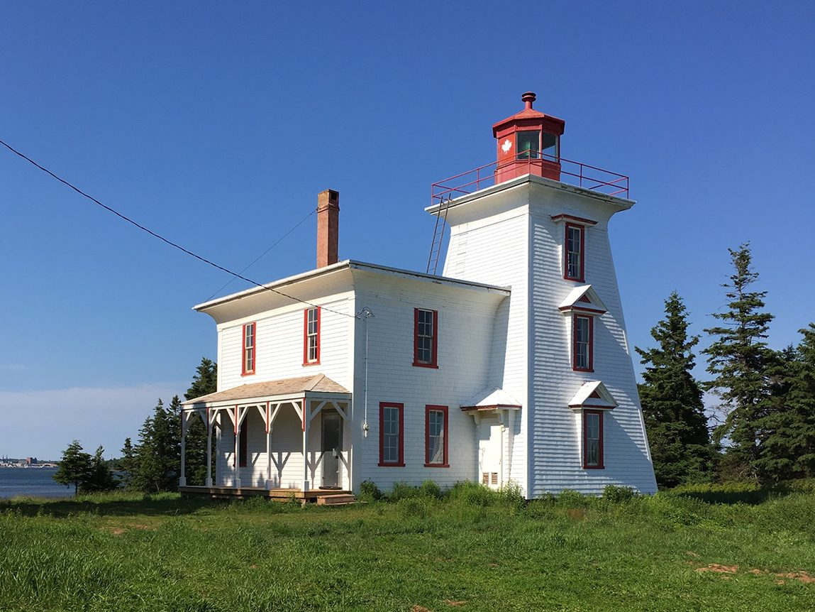 Canadian history - red and white lighthouse