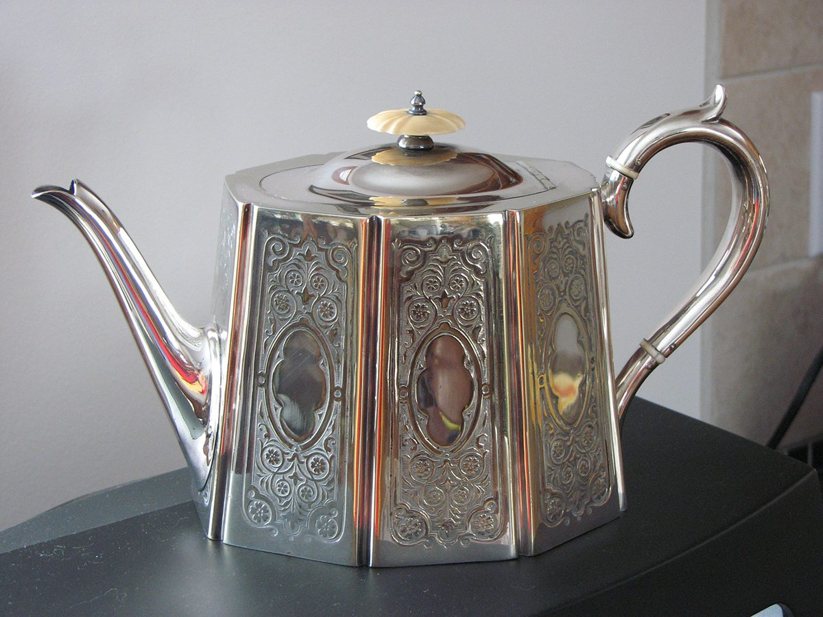 Canadian history - vintage silver teapot