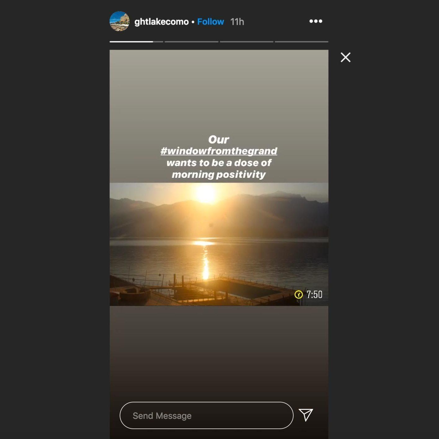 ghtlakecomo instagram story
