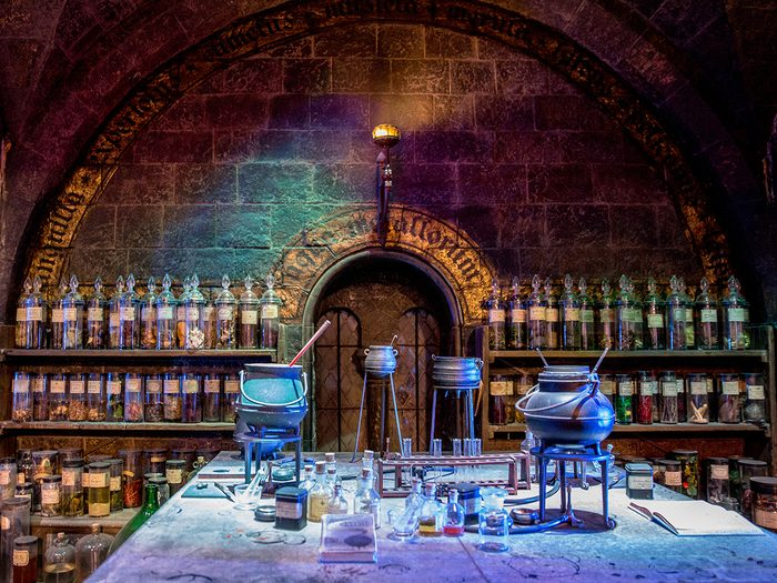 Harry Potter potions class at Hogwarts