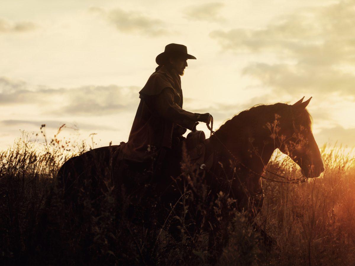 Western cowboy silhouette