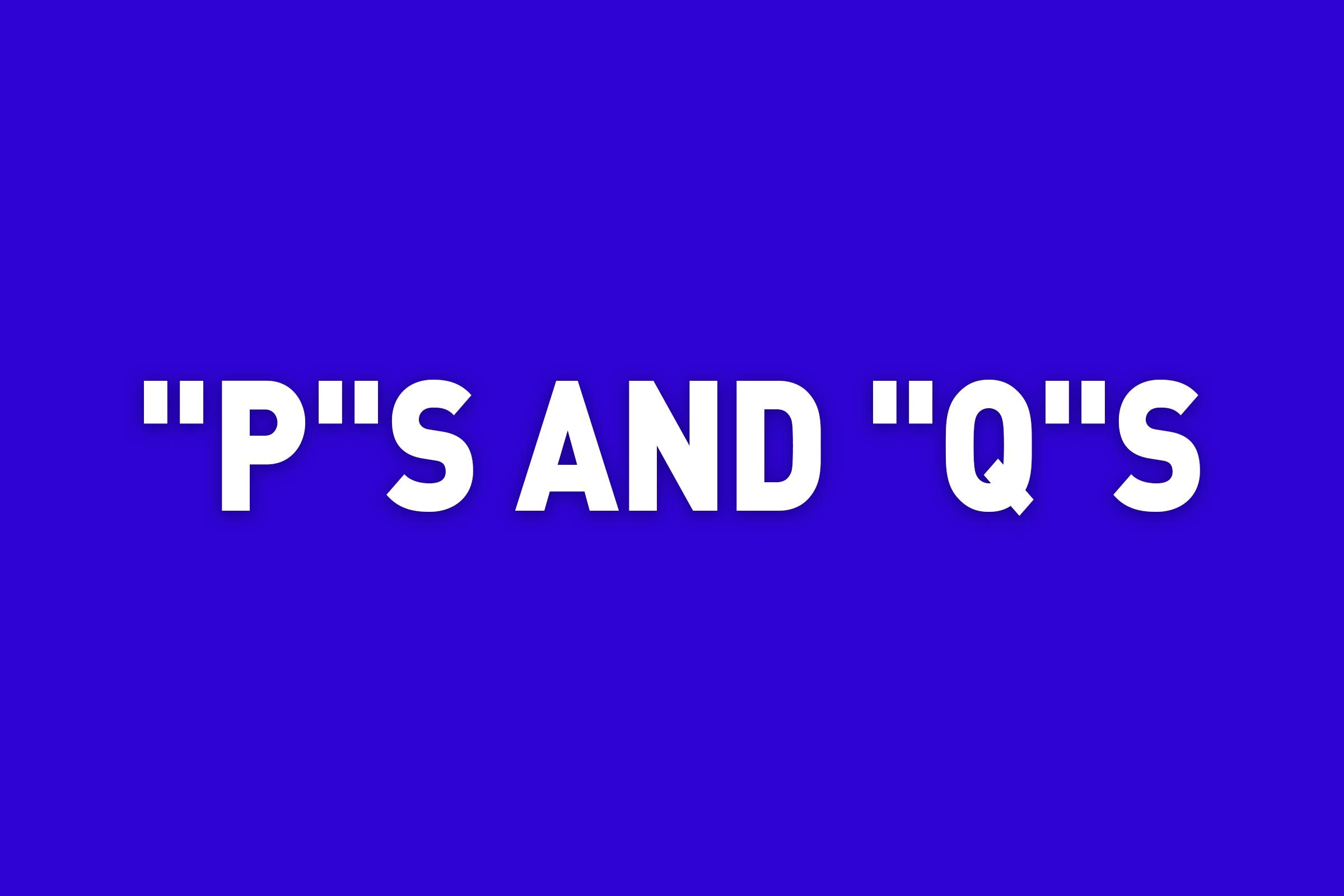 """""""p""""s and """"q""""s jeopardy category"""