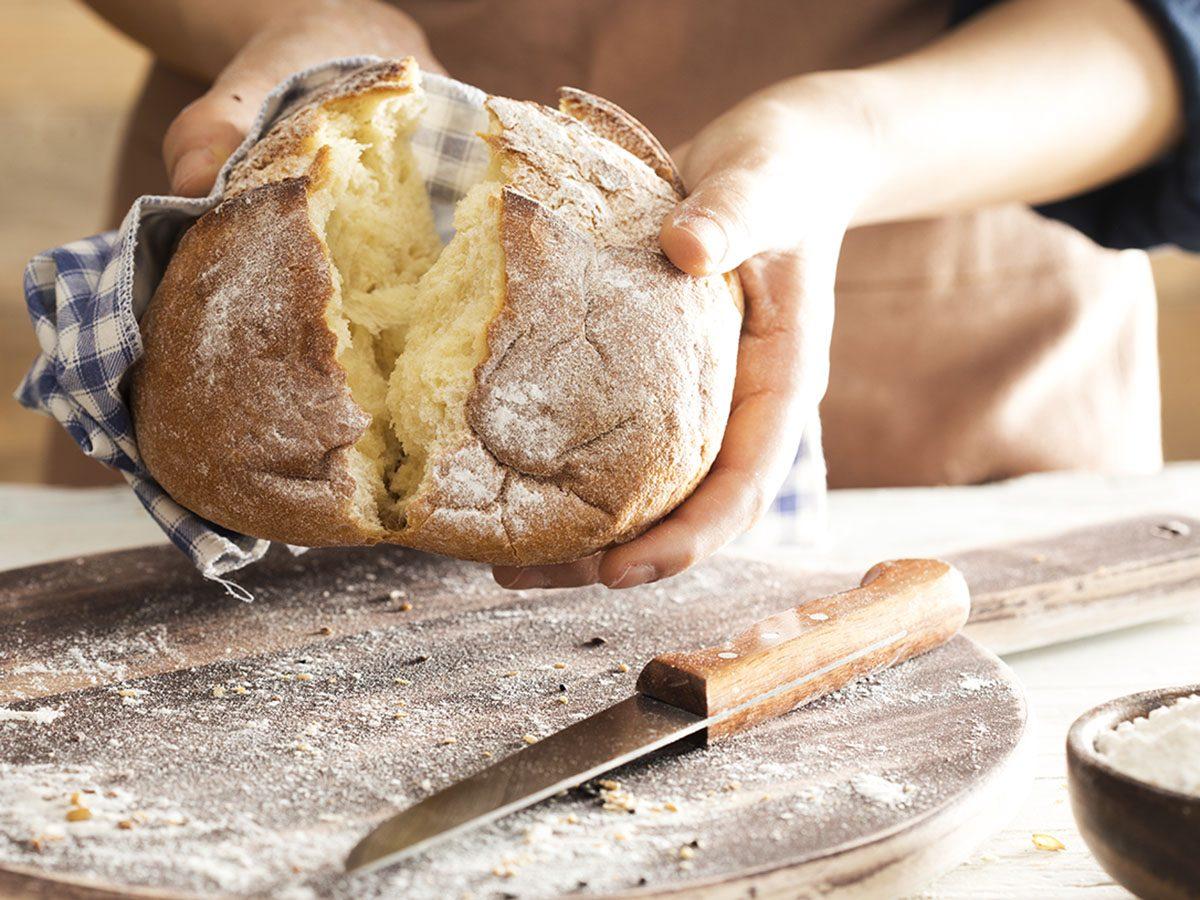 Person Making Bread