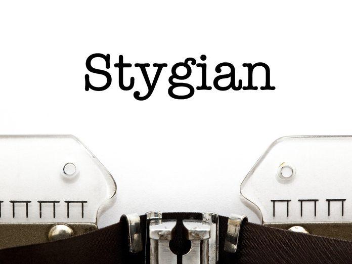 Word power: Stygian