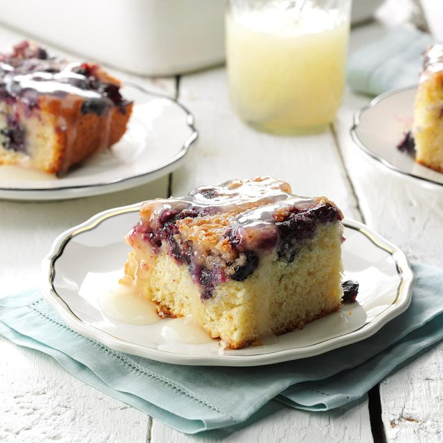 Blueberry Buckle with Lemon Sauce recipe