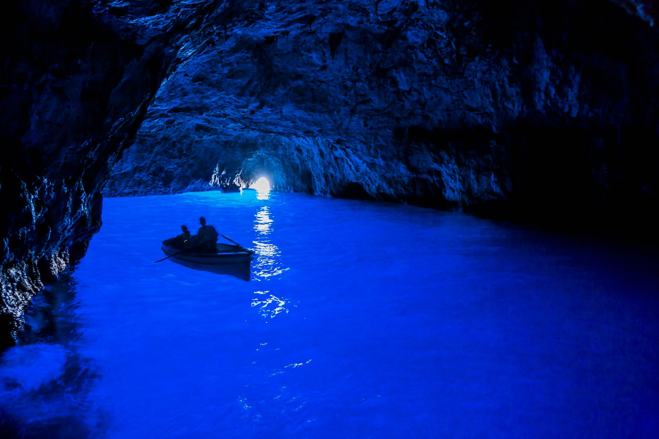 Capri Island, the Grotta Azzurra (Blue Grotto)