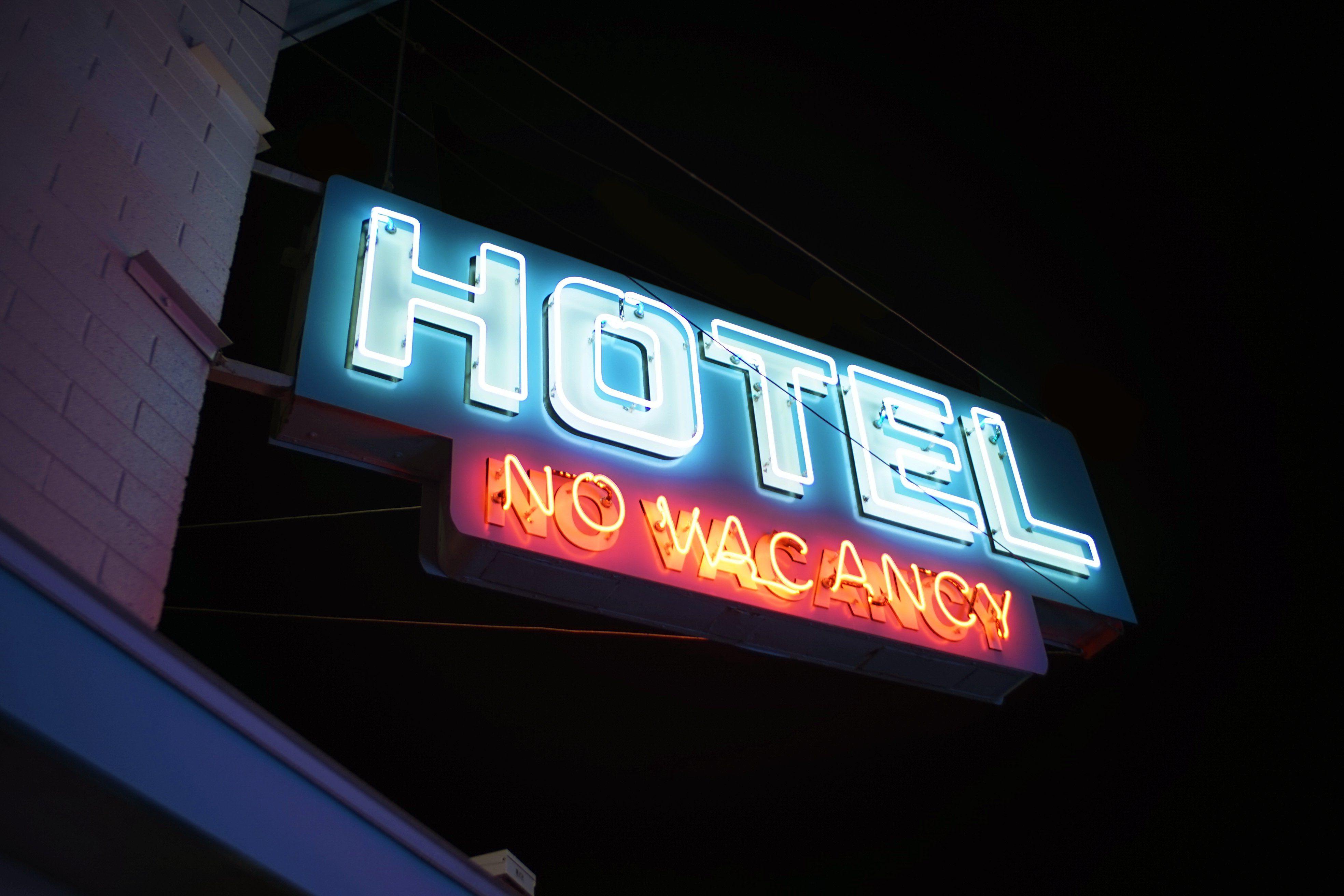 No Vacancy Hotel Or Motel Neon Sign