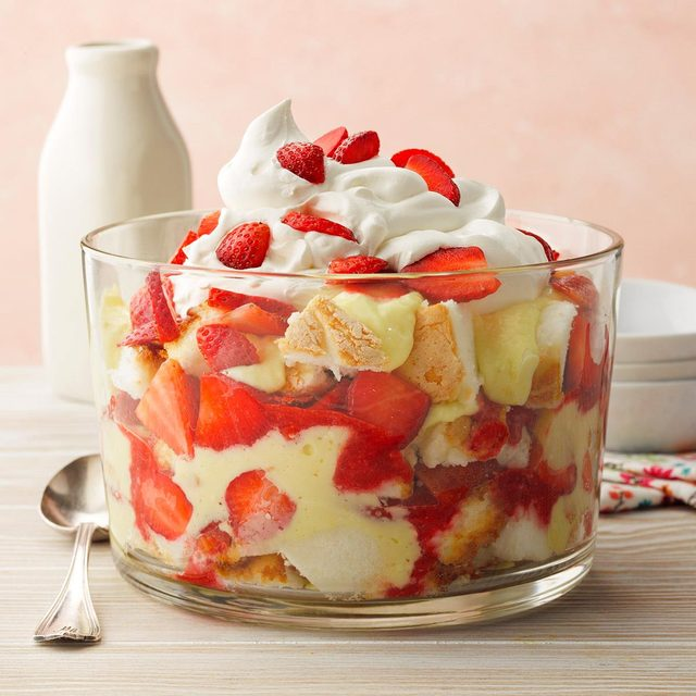 Strawberry Lemon Trifle