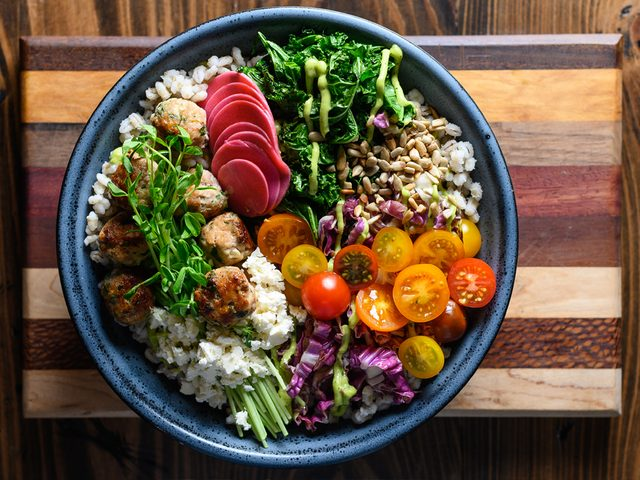 Think Turkey barley bowl