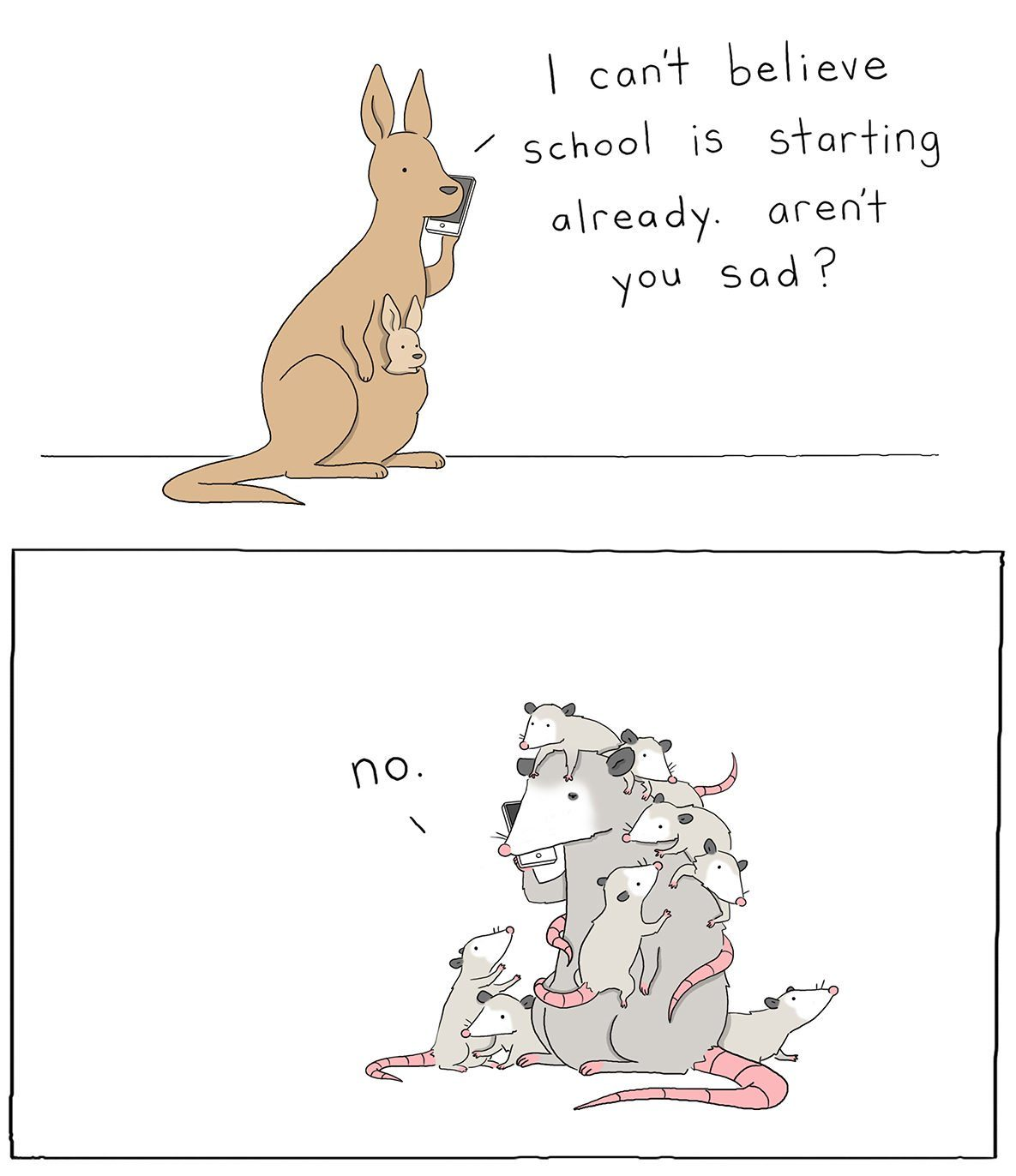 clingy school starting cartoon by liz climo