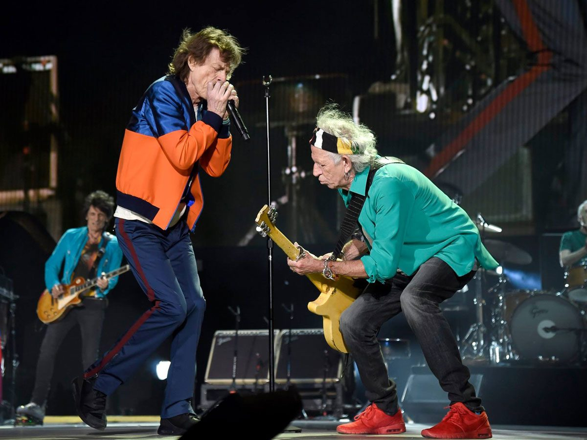 Concert films: Mick Jagger and Keith Richards performing live in 2016