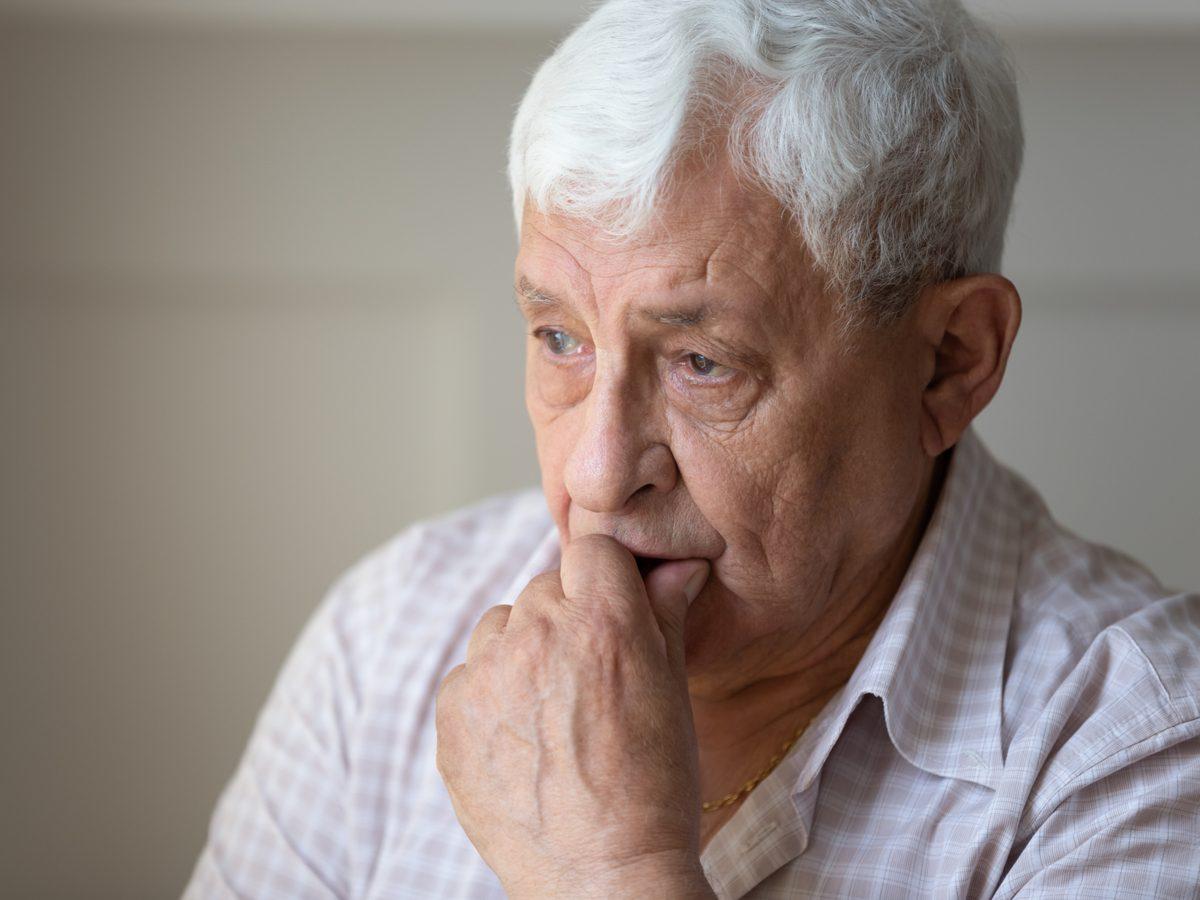 Depressed elderly man