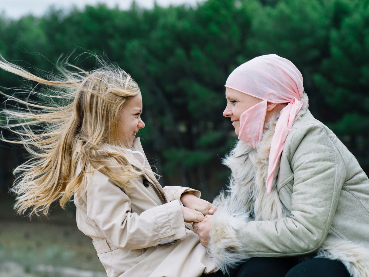 Cancer patient with young girl