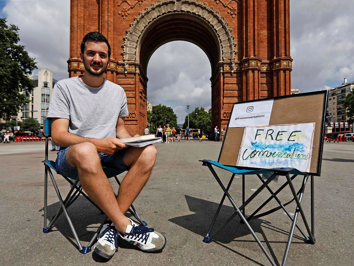 Good news - free conversations in Barcelona, Spain